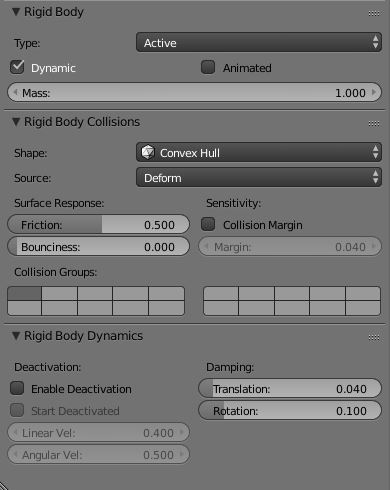 Rigid Body Properties — Blender Manual